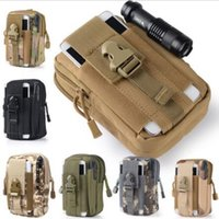 Wholesale Soccer Phone Cases - Military Molle Tactical Waist Bag Wallet Pouch Phone Case Outdoor Camping Hiking Bag Outdoor Camping Phone Bags CCA7024 50pcs