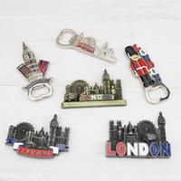 imanes de nevera grande al por mayor-Imán del refrigerador del metal Imanes de nevera portátiles de Londres Big Ben con el recuerdo del abrebotellas para Reino Unido Travel 4wr ff
