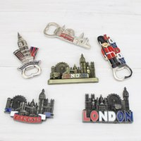 ingrosso grandi frigoriferi-Magneti da frigorifero in metallo London Big Ben Magneti da frigorifero portatili con apribottiglie Souvenir For United Kingdom Travel 4wr ff