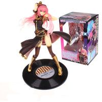 Wholesale anime figure vocaloid - Free shipping Anime New Megurine Vocaloid Miku Luka 1 7 Scale Painted PVC Action Figure Model Collection Toy 23cm
