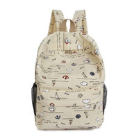 Wholesale Schools Bags Strawberry - Canvas Backpacks School Bags Small Fresh Classic School Backpacks Waterproof Strawberry Print Lolita Bags Student Fashion Casual Backpacks