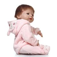 Wholesale Mini Full Love Doll - 57CM 100% full body silicone reborn dolls girl fashion dolls toys child love bebe gift boneca reborn