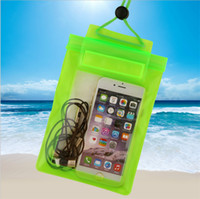 Wholesale Neck Lock - Clear Transparent Waterproof Pouch seal bag Universal big size PVC Underwater swimming pocket with Neck lanyard for iphone Samsung new