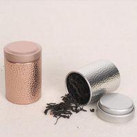 Wholesale Round Candy Tins - Novelty Dia.4.5*6.8cm Round Small Tea Tin Box Food Sugar Candy Metal Mini Storage Box Accessories ZA4815