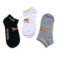 Wholesale new style slippers for sale - Group buy New Fashion Street Skateboard Men Letter No Show Socks Style Casual Simple Cotton Harajuku Unisex Boat Socks
