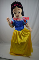 Wholesale Snow White Adult Cartoon - Snow White adult costume mascot costume Halloween costume dress Christmas party animal blue cartoon adult size garment factory direct privat