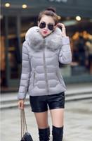 Wholesale Collor Fur - Women's Down & Parkas Jacket Female Fashion Cotton-padded Coat Winter Large Fur Collor With Hoody Plus Parka Coats