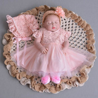Wholesale Wholesale Retail Gowns - Retail Infant Baby Girl Wedding Costume Lace Dresses Christening Gown Tulle Formal First Birthday Princess Dress 0-2Y E1002