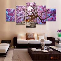 Wholesale Huge Wall Art Tree - Huge HD Canvas Print Home Decor Wall Art Painting Modern Abstract Tree Picture Prints On Canvas Wall Picture For Living Room