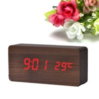 Wholesale Reloj Despertador Led - Hot sale 2016 New Creative Temperature Display Sounds Control Electronic Desktop LED Alarm Clock reloj despertador Smile