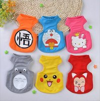Wholesale Cheap Clothes For Large Dogs - Spring and Summer Breathable Mesh Dog Clothes Puppy Vest for Small Dogs Cats Cute Cartoon Printed Pet Apparel Wholesale Cheap