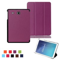 Wholesale Galaxy Tab Stylus - COVER For Samsung Tab E 9.6 T560 leather cover case funda For Samsung GALAXY Tab E 9.6 T560 SM-T560 tablet case +film+stylus