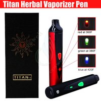 Wholesale Dry Herb Vaporizer Set - Top quality Titan I Herbal vaporizer Titan1 HEBE dry herb Vapor atomizer Kit 2200mAh Temperature Set Vape pen e cig cigarette vaporizers