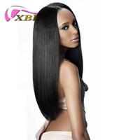 chemisier à vendre achat en gros de-Perruque brésilienne de cheveux humains pour les femmes noires au sein de la bande et des pinces à cheveux