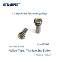 Wholesale Violin Polish - Wholesale- STRADPET titanium end button, hollow type for violin and viola in polishing finished or gun gray