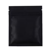 Wholesale Small Foil Bags - 7.5x10cm  3x4in 100pcs Matte Black Aluminum Foil Plastic Ziplock Pouch Flat Small Package Zip Lock Bags With Tear Notch