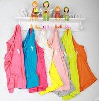 üst modal gömlekler toptan satış-Toptan Satış - Toptan-Çocuk t-shirt 2015 yaz% 100 pamuk modal tasarımcısı t-shirt kız 2-6 yaş erkek giyim bebek yelek üst roupas meninos