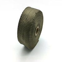 "Wholesale Titanium Motorcycle Exhaust - Titanium Motorcycle Exhaust Pipe Header Heat Wrap 2"" x 5m Per Roll With Stainless Steel Ties Kit"
