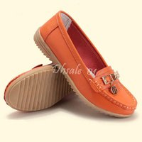 Wholesale Boat Shoes Business Casual - Women Boat Shoes Leather Flat Heel Round Toe Business Casual Shoes 5colors