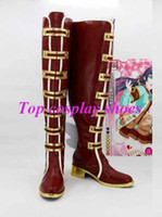 Wholesale Valentines Costume Accessories - Wholesale-Freeshipping Love Live LOVE LIVE! Awakening of Valentine Nozomi Tojo Cosplay Boots shoes hand made #89546