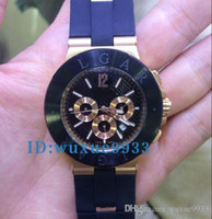 Wholesale Fine Leather Belts - 2017 Hot Luxury Brand Fine Quality Chronograph Black Dial Watches Black Leather Belt Silver Skeleton Three Wristwatch Many c