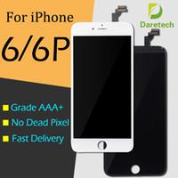 iphone сенсорный дигитайзер сенсорный полный оптовых-Для iPhone 6 iPhone 6 Plus Черный белый ЖК-дисплей с сенсорным экраном дигитайзер полный DHL бесплатная доставка