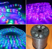 Wholesale Ip65 Rope Light - 110V 220V High Voltage 100M 2wire round LED rope Strip lights 36Leds M IP65 waterproof outdoor led christmas lights