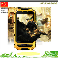 Wholesale Ips Gorilla Glass - A8 IP68 Waterproof 3G Smart Phone Android 4.2 MTK6572 Dual Core Rugged Cell SIM Gorilla Glass 4.0 Inch IPS GPS WCDMA Unlocked Free Shipping