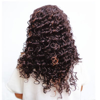 Wholesale Synthetic Hair Extensions White - Long Dark Brown Mixed Blonde White African Kinky Curly Wigs For Black Women Afro Hair Synthetic Wigs