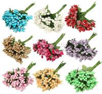 ingrosso decorazione bacca-Coltelli Pieghevole 2016 Nuovo Bacca Artificiale Fiore Bouquet Da Sposa Festa di Nozze Home Decor Accessori Fai Da Te Rosa Mazzi di Fiori Artificiali