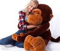 maymun büyük bebek toptan satış-DEV BÜYÜK BÜYÜK BÜYÜK DOLMUŞ HAYVAN YUMUŞAK PELUŞ KAHVERENGI MAYMUN BEAR DOLL PELUŞ OYUNCAK