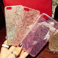 Fashion Glitter schimmernden Pulver Handy Fall Acryl Rhombus Muster stoßfest Handy Fall für Iphone6 ​​Iphone6plus Iphone7 7plus