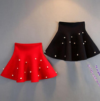 Wholesale ribbons for clothes for sale - Autumn Winter Girl Skirt Kids Pearl Skirt Girl Wool Knit Skirt Cotton Clothing For Year Kids