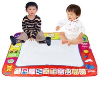 Wholesale Aquadoodle Drawing Mat Magic Pen - New Wholesale High Quality Kids Water Drawing Painting Writing Toys Doodle Aquadoodle Mat Magic Pens 80X60cm For Children Kids