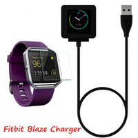 Wholesale Fitness Cords - 1m 3ft Charging Cable Battery Charger Power Adapter Dock Cradle Cord Wire For Fitbit Blaze Smart Fitness Watch Bracelet Replacement Newest
