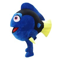 Wholesale costume characters for sale - 0524 free shipping dory cartoon character mascot costume for sale with mini fan inside the head for adult