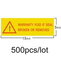 ingrosso annullare le etichette-l'etichetta dell'etichetta della garanzia è nulla se la guarnizione è rotta o rimossa 1.5x0.5cm per 500pcs / lot Spedizione gratuita