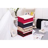 Wholesale Oxford Underwear - 45L dark red foldable oxford fabrics organizer storage box bins underwear box for bra underwear tie socks