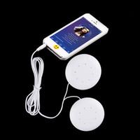 almofada dupla venda por atacado-Estéreo universal 3.5mm Dupla 2x Alto-falantes de Música Altofalantes de Travesseiro Altifalante Para MP3 MP4 Para Telefones Celulares PC Computador Portátil Notebook Branco