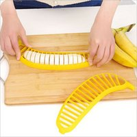 bananenschredder großhandel-Banana Slicer Salat Maker Divider geschnitten Wurst Schinken Obst Messer Küche Shredder # R571