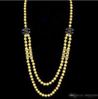 ingrosso bellissimi conchiglie-2016 hot acquistare perla giada braccialetto anello collana pendente dell'orecchino NUOVO Top lunga bella 8mm bianco perla collana di perle 68