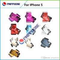 boîtier arrière de l'iphone 5g achat en gros de-Livraison Gratuite Retour Batterie Cover Case avec Cadre Moyen Midframe Assemblage Full Housing Replacement Pour iPhone 5 5G