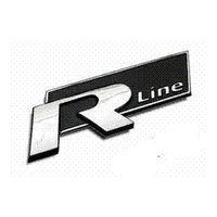 vinyle emblème vw achat en gros de-2 couleurs 3D métal Rline R ligne autocollant de voiture emblème pour volkswagen VW Beetle polo golf CC Touareg Tiguan Passat Scirocco autocollant