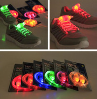 Wholesale wholesale fiber optic lighting supply - 3rd Generation LED Luminous Lights Light Up Sports Shoelace Fiber Optic EL Shoelace For Halloween Christmas Led Rave Toy Supplies 2pcs lots