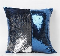 Wholesale Mermaid Sequin Jade Silver Pillow Sequins Pillow with Filler Reversible Pillow Mermaid Shimmer Pillow Sham Accent Pillow jy351