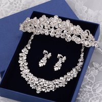 Wholesale Piercing Led - The bride adorn article three suit European princess crown Korean hair hoop knot wedding hair dress accessories