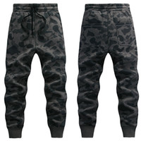 Wholesale Mens Camo Pants Fashion - Wholesale-Camouflage Jogging Pants 2016 New Fashion Brand Mens Military Style Camo Joggers Free Shipping