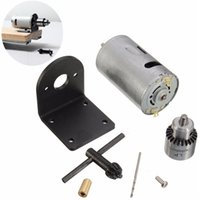 Wholesale Drill Press Drilling - 12-24V Lathe Press Motor with Drill Chuck and Mounting Bracket