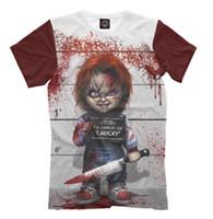 mini erkek bebeği toptan satış-Yeni Moda Kadınlar / erkekler 3D Baskı Film Chucky Bebek çocuğun Oyun Korku Rahat Kısa Kollu T-shirt