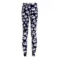 Wholesale sexy yoga pants - 2017 NEW Halloween Jack Skellington Nightmare Prints Sexy Girl Pencil Yoga Pants GYM Fitness Workout Polyester Women Leggings Plus Size